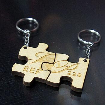 原木雷射雕刻-鑰匙圈